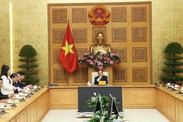 Chủ tịch Hanel PT tiếp kiến Thủ tướng Nguyễn Xuân Phúc tại văn phòng Chính phủ
