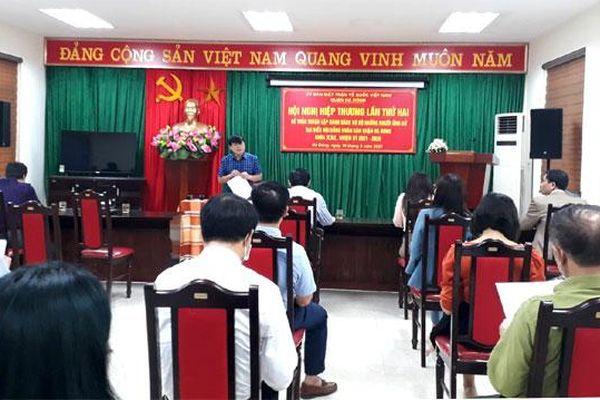 Hà Đông: 70 người được giới thiệu ứng cử đại biểu HĐND quận