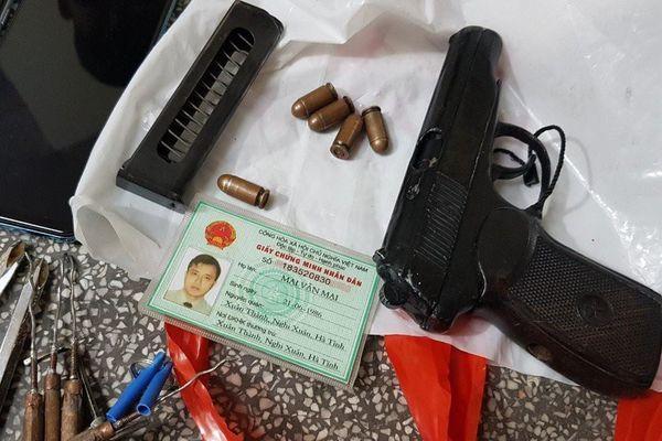 Bình Dương: Bắt giữ nhóm trộm cắp liên tỉnh luôn thủ súng trong người