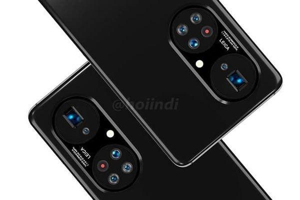 Huewei P50 lộ ảnh với cụm camera thiết kế rất đặc biệt