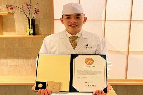 Người Việt Nam đầu tiên giành được 'huy hiệu Vàng' trong lĩnh vực ẩm thực tại Nhật Bản