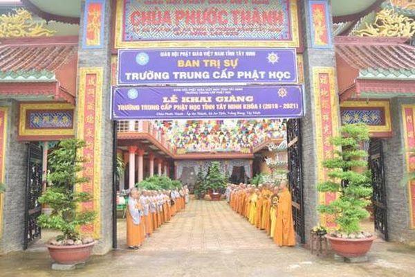 Tây Ninh: Tuyển sinh Trung cấp Phật học khóa II (2021-2024)