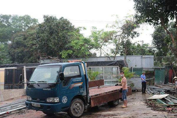 Huyện Đông Anh: Nhiều hộ dân ở xã Uy Nỗ tự giác tháo dỡ công trình xây dựng vi phạm