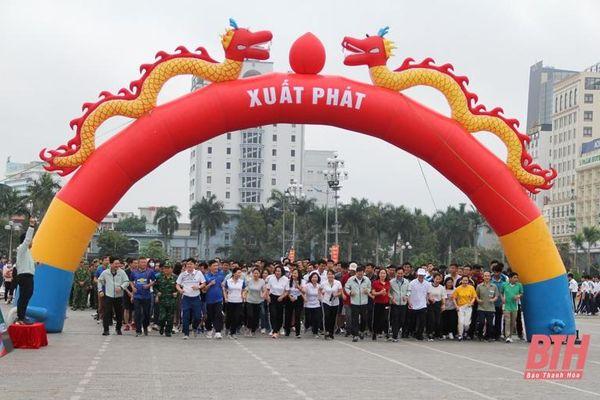 Những hình ảnh tại lễ phát động 'Toàn dân rèn luyện thân thể theo gương Bác Hồ vĩ đại', Ngày chạy Olympic 'Vì sức khỏe toàn dân' và Giải việt dã TP Thanh Hóa 2021