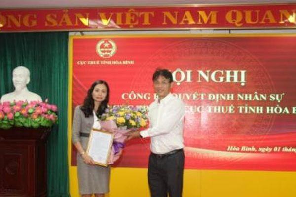Bà Nguyễn Thị Hương Nga giữ chức Phó Cục trưởng Cục Thuế Hòa Bình