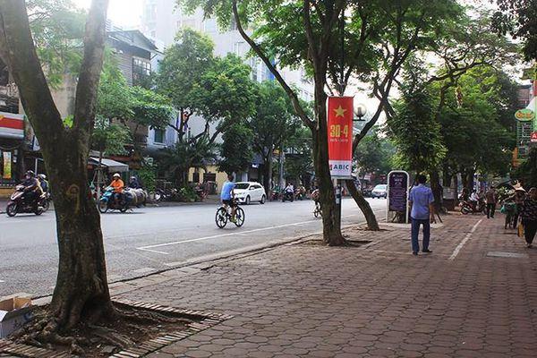 Sở Giao thông Vận tải Hà Nội không đồng ý dùng vỉa hè 5 tuyến phố lớn để kinh doanh