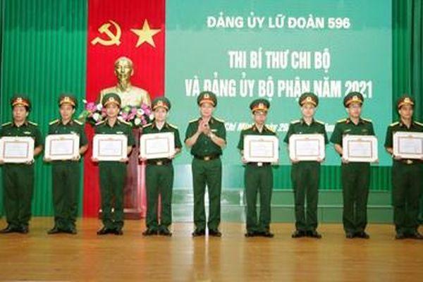 Lữ đoàn 596 trao thưởng Hội thi Bí thư Chi bộ và Đảng ủy bộ phận năm 2021