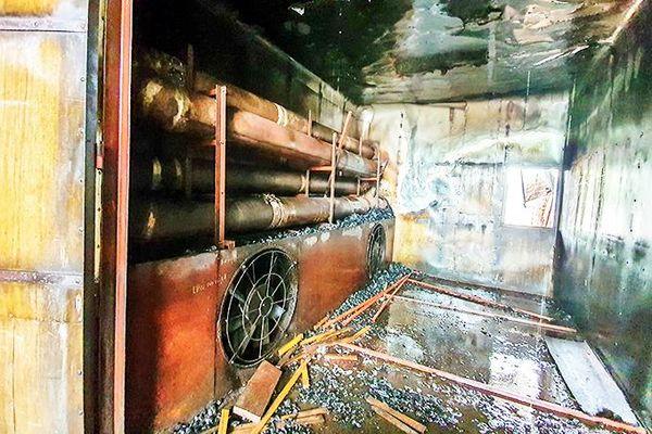 Xưởng sấy gỗ bị hỏa hoạn