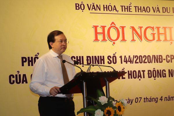 Hội nghị phổ biến Nghị định số 144/2020/NĐ-CP của Chính phủ về hoạt động nghệ thuật biểu diễn khu vực miền Trung