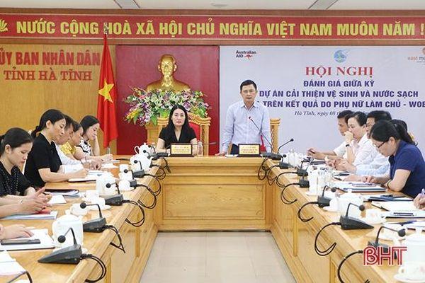 Kiện toàn BQL dự án cấp huyện, xã, đẩy nhanh tiến độ dự án WOBA tại Hà Tĩnh