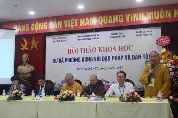Cơ sở khoa học công nhận Sư bà Phương Dung là Danh nhân phật giáo tiêu biểu Thủ đô