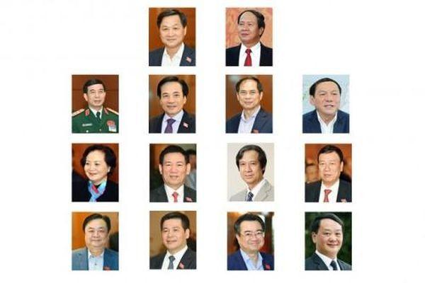 Chính phủ có 2 Phó Thủ tướng, 12 bộ trưởng mới