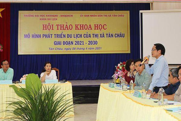 UBND TX. Tân Châu tổ chức hội thảo khoa học mô hình phát triển du lịch