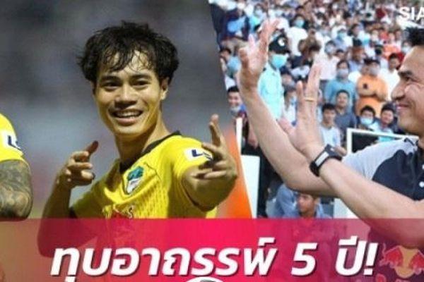 Báo Thai Lan 'phát cuồng' khi HLV Kiatisak giúp HAGL bay cao tại V.League