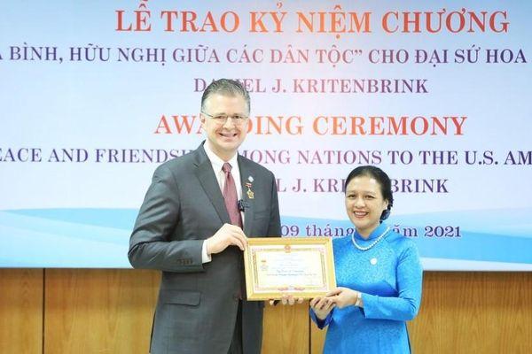 Chủ tịch VUFO Nguyễn Phương Nga: Đại sứ Mỹ để lại ấn tượng sâu đậm trong lòng người dân Việt Nam
