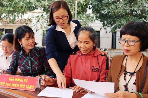 Bắc Giang: Hơn 100 người đăng ký hiến mô, tạng