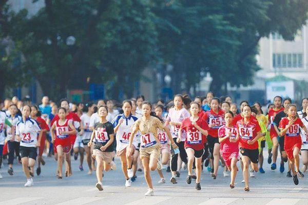 Quận Bắc Từ Liêm: 600 vận động viên dự giải chạy Báo Hànôịmới cấp cơ sở