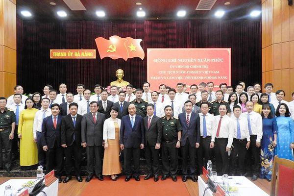Chủ tịch nước Nguyễn Xuân Phúc làm việc với Đà Nẵng, Quảng Nam, Quân khu 5