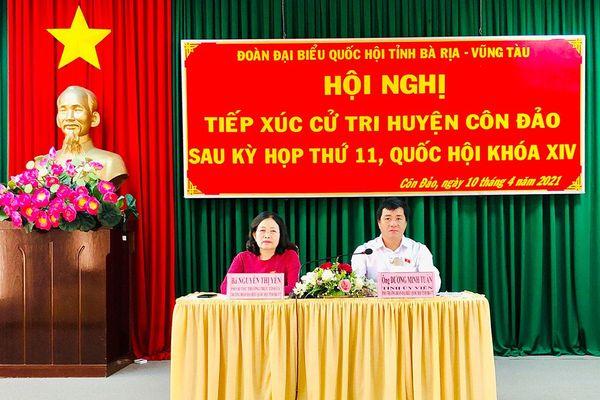 Đoàn ĐBQH tỉnh tiếp xúc cử tri huyện Côn Đảo