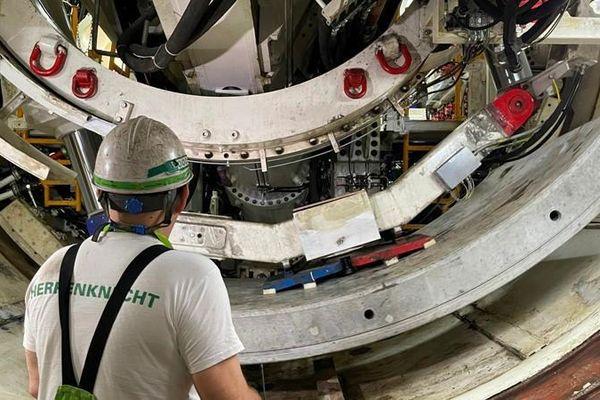 Chạy thử nghiệm robot đào hầm TBM đường sắt đô thị Nhổn- Ga Hà Nội