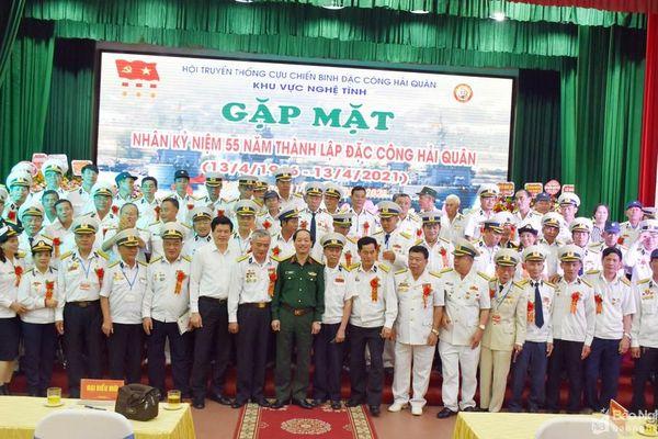 Cựu chiến binh đặc công Hải quân Nghệ Tĩnh gặp mặt kỷ niệm ngày truyền thống