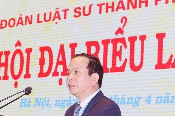 Luật sư Đào Ngọc Chuyền là Chủ nhiệm đoàn Luật sư TP.Hà Nội khóa X