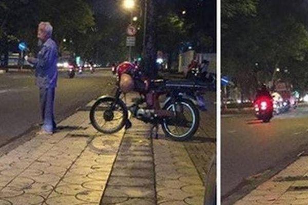 'Cô ơi, cô đi giùm tôi' - hình ảnh cụ ông chạy xe ôm trước cổng trường ĐH khiến nhiều người cay mắt
