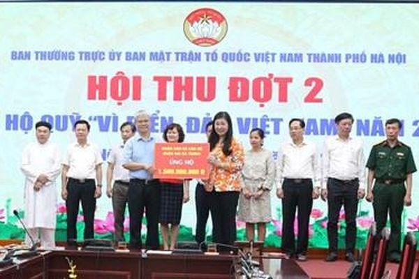 Hà Nội: Hội thu Quỹ 'Vì biển, đảo Việt Nam' đợt 2 đạt 23,7 tỷ đồng