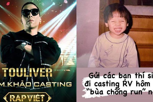 Touliver 'khóc thét' khi Tóc Tiên tặng 'bùa chống run' cho thí sinh casting 'Rap Việt'