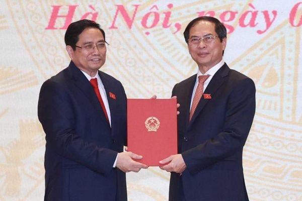 Điện mừng Bộ trưởng Ngoại giao Bùi Thanh Sơn