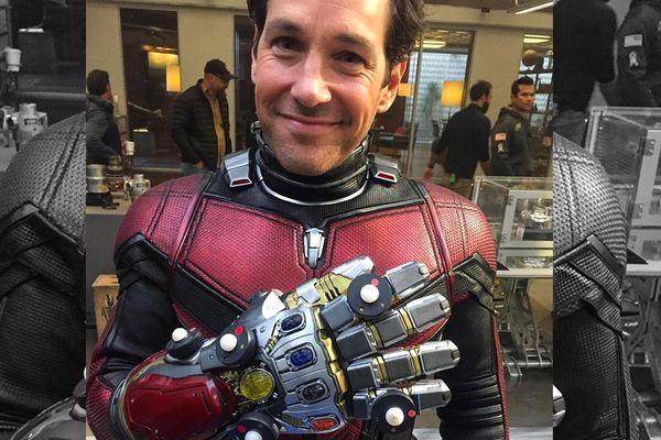 Ảnh hậu trường Ant-Man đeo Găng Tay Vô Cực gây sốt trên Twitter