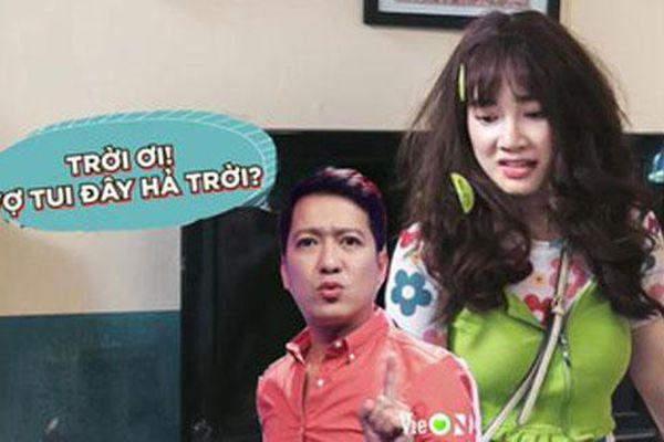 Phản ứng bất ngờ của Trường Giang khi bà xã 'bị ăn tát' trong phim mới