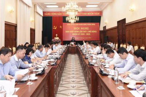 Đảng ủy cơ quan Ngân hàng Trung ương: Hội nghị Ban Chấp hành lần thứ 4 (mở rộng), nhiệm kỳ 2020-2025