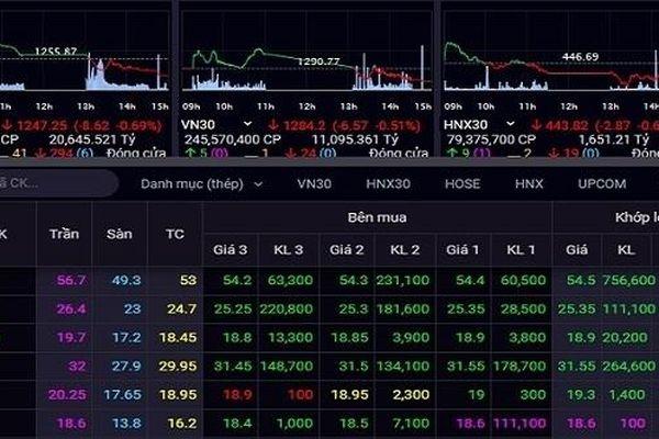 Cổ phiếu thép 'dậy sóng'