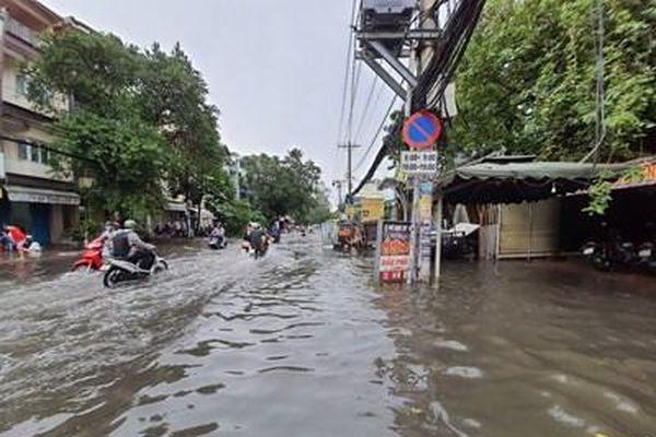 Mưa lớn, nhiều tuyến đường trên địa bàn TP HCM ngập sâu, cây ngã đổ