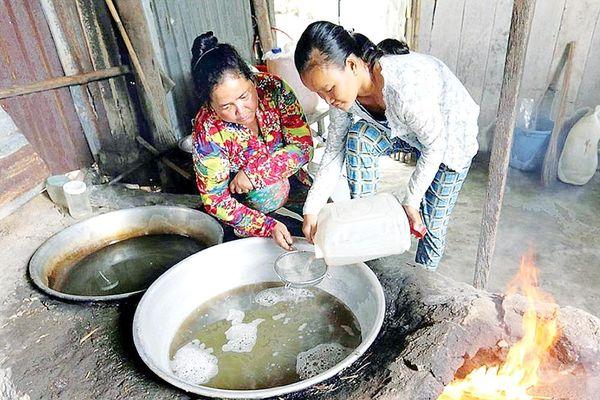 An Giang: Mùa nấu đường thốt nốt