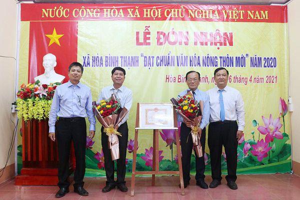 Hòa Bình Thạnh đạt chuẩn xã văn hóa nông thôn mới