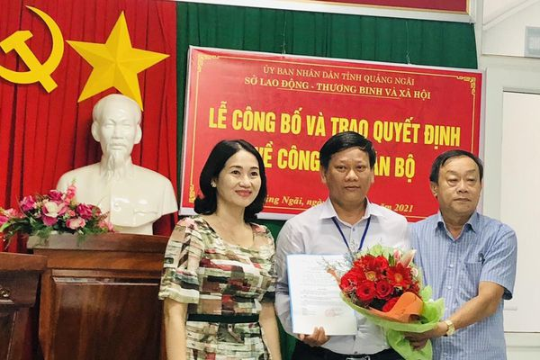 Ông Đinh Duy Long được bổ nhiệm Giám đốc Quỹ Bảo trợ trẻ em tỉnh Quảng Ngãi