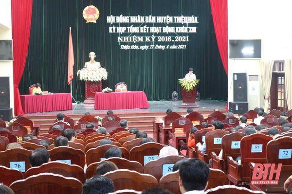 HĐND huyện Thiệu Hóa tổng kết hoạt động khóa XIII, nhiệm kỳ 2016-2021