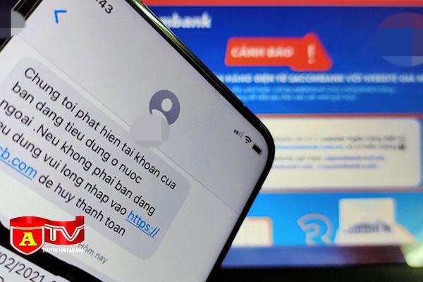 Cảnh báo tin nhắn lừa đảo chiếm đoạt tài khoản ngân hàng