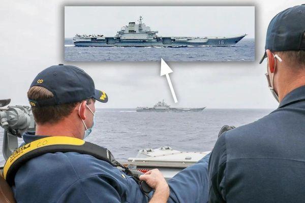 Ba tàu chiến Mỹ áp sát tàu sân bay Trung Quốc ở Biển Đông