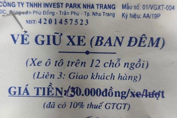 Nha Trang kiểm tra thông tin phí giữ xe khách du lịch 150.000 đồng/đêm