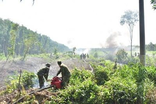 Dồn sức phòng, chống cháy rừng mùa khô hạn
