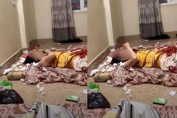 Xôn xao cô gái trẻ thất tình, nằm giữa phòng liên tục dùng tay đấm ngực