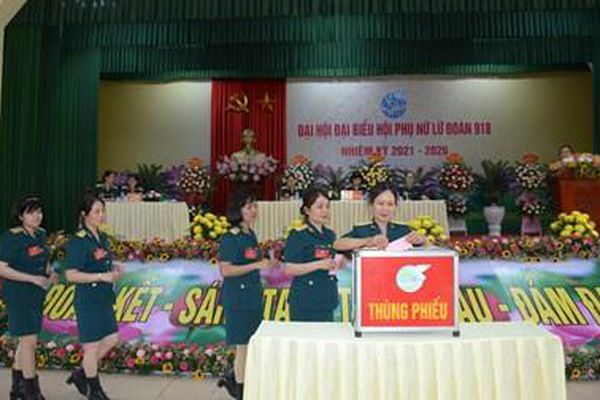 Đại hội đại biểu Hội phụ nữ Lữ đoàn 918