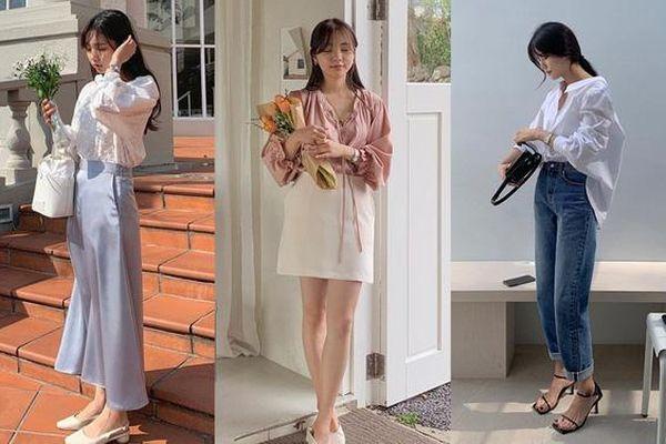 12 cách lên đồ với áo blouse đẹp mê của các cô gái Hàn