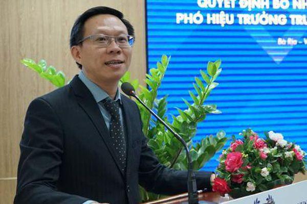 Trường ĐH Bà Rịa - Vũng Tàu có Phó Hiệu trưởng mới