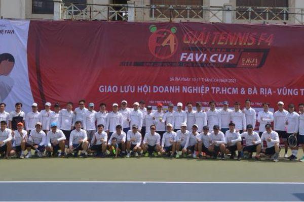 Giải Tennis F4 FAVI CUP: Sân chơi thể lực của những doanh nhân