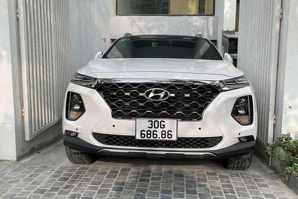 Hyundai SantaFe biển 'lộc phát - 68686' rao bán hơn 3 tỷ ở Hà Nội