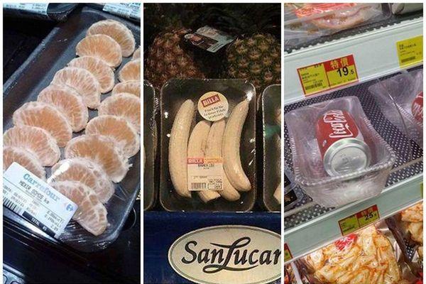 'Há hốc mồm' những kiểu đóng gói đồ ăn không tin nổi trong siêu thị